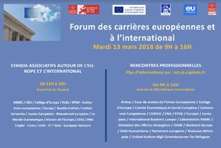 FORUM DES CARRIERES EUROPEENNES ET A L'INTERNATIONAL I European School of Law de Toulouse